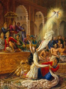 Draupadi disrobed in the Mahabharata