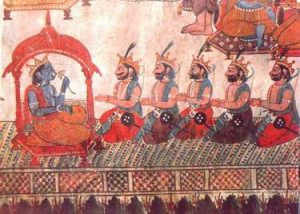 the five Pandavas in the Mahabharata